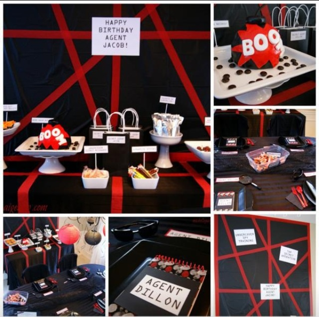 Spy Themed Secret Agent Birthday Party From Karas Ideas