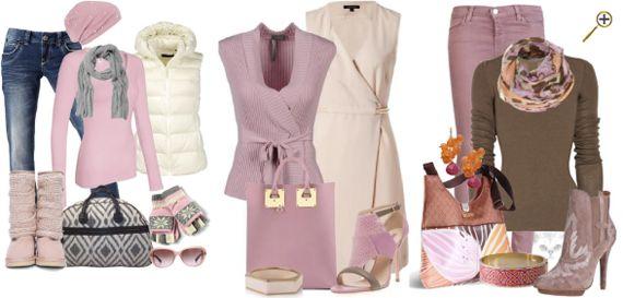 Сочетание розового цвета в одежде Разнообразные оттенки розового создают различные пары: холодные лиловые тона хорошо сочетаются с серым, белым, персиковым, холодным светлым золотом, бежево-коричневым и джинсово-синим цветами. Нежные теплые оттенки, ближе к персиковому (см. сочетание персикового цвета в одежде) хорошо сочетаются с сиреневыми, аметистовыми, мятными, голубыми, джинсовыми, теплыми и холодными оттенками зелени. Яркие оттенки розового предпочтут более насыщенные оттенки, как…