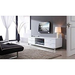 Shop for Natasha White/ Stainless Steel Modern TV Stand. Get free shipping at Overstock.com - Your Online Furniture Outlet Store! Get 5% in rewards with Club O!