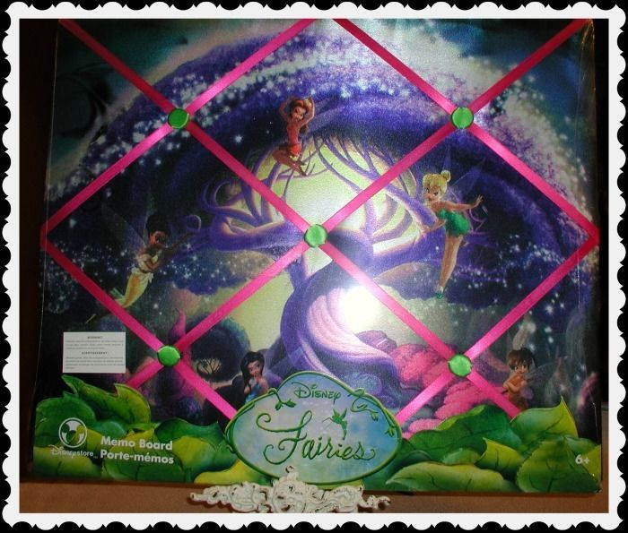 DISNEY STORE Peter Pan's Tinkerbell Fairies French Art Message Memo Board-NEW! #GlassArtLamp