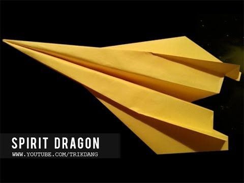 Best Paper Planes: How to make a paper airplane that Flies FAST & FAR | Spirit Dragon - YouTube