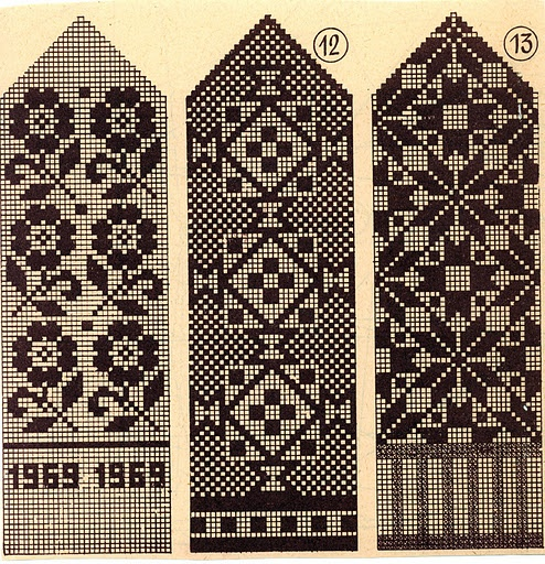 Not sure what these patterns were originally for...but I think they'd translate great to peyote, brick stitch or loom bead work