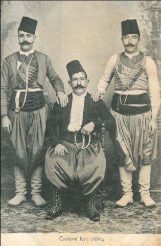 Cretan Turks, Crete Island, 1890s (Giritli Türkler)