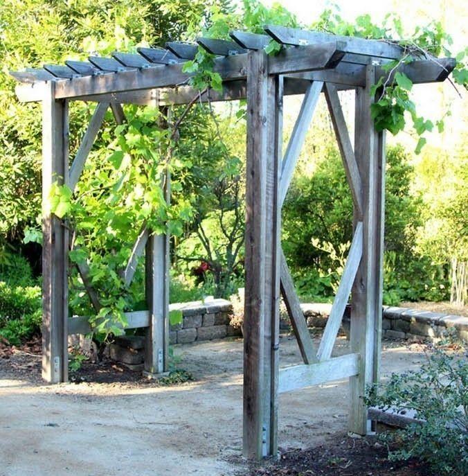 Cómo hacer una pérgola de jardín paso a paso Pérgola