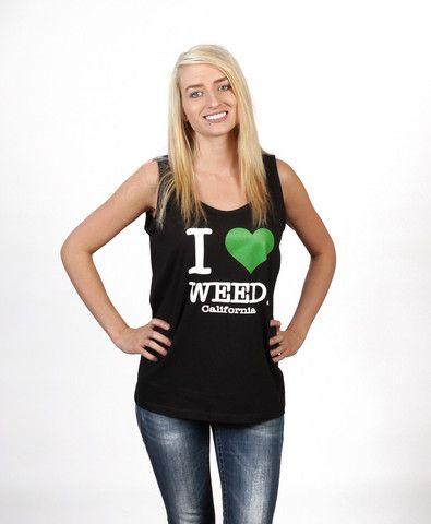 I Heart Weed Tank in Black – Enjoy Weed Shack