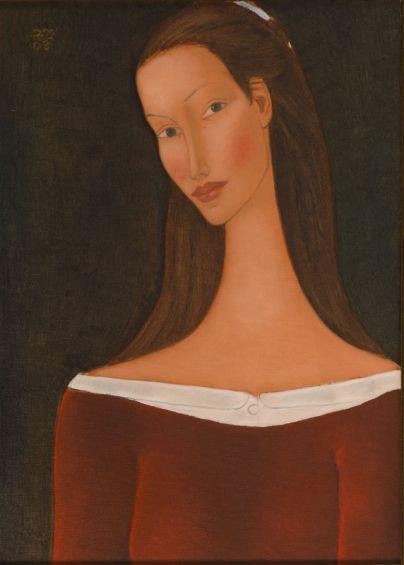 Roman Zakrzewski - Portret kobiety, 2003 r.