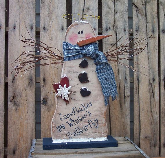 Snowman Angel Wood Craft Pattern for Winter and Christmas on Etsy, $7.50