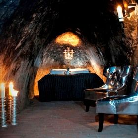 Silvermine Hotel in Sala, Sweden boasts a mine suite that is 155 m below ground. Don't worry, even though you are so deep underground your cell phone won't work, they make sure you have an intercom phone for communication with hotel staff. You might want to layer your clothes as well, it's only about 2 degree C in your room.