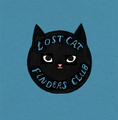 secretprettythings: Logo idea for my imaginary cat finding club. From one of the pages of the book I just finished making.