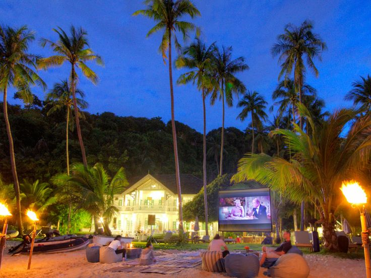 Moonlight cinema at Cape Panwa Hotel Phuket, Thailand  www.islandescapes.com.au