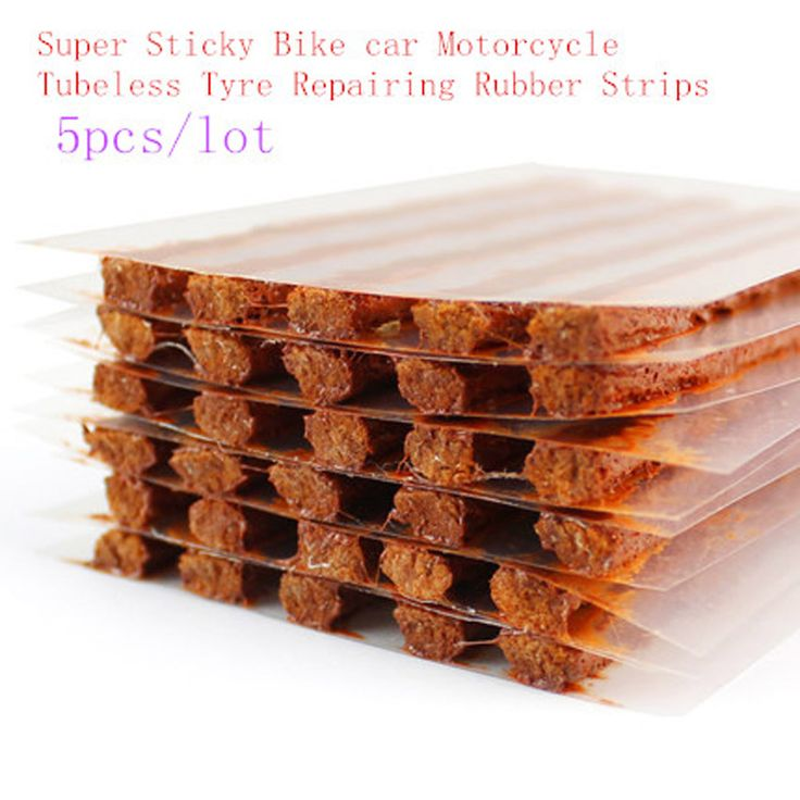 Super Sticky Bike car Motorcycle Tubeless Tyre Repairing Rubber Strips Tire Repair Strip Sealer 5pcs/lot