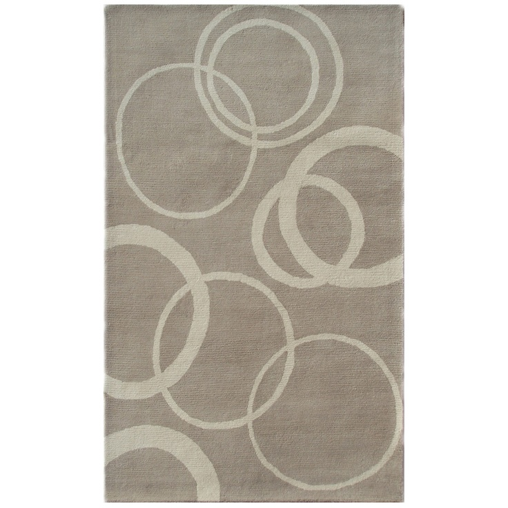 Layla Grace Daffodil Rings Silver Tufted Wool RUG, But I Would Love This ON  A