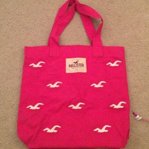 Hollister bag Used cute like new pink Hollister bag Hollister Bags Totes