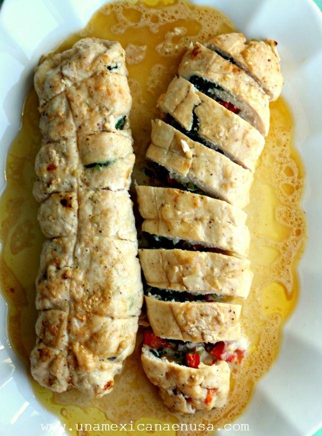 Msg 4 21+ ~Rollos de pechuga de pollo rellenos de vegetales #SummerVino ad #CollectiveBias @sutterhome by www.unamexicanaenusa.com