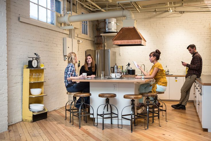 In coworking spaces serendipity happens in chance Coworking space design ideas