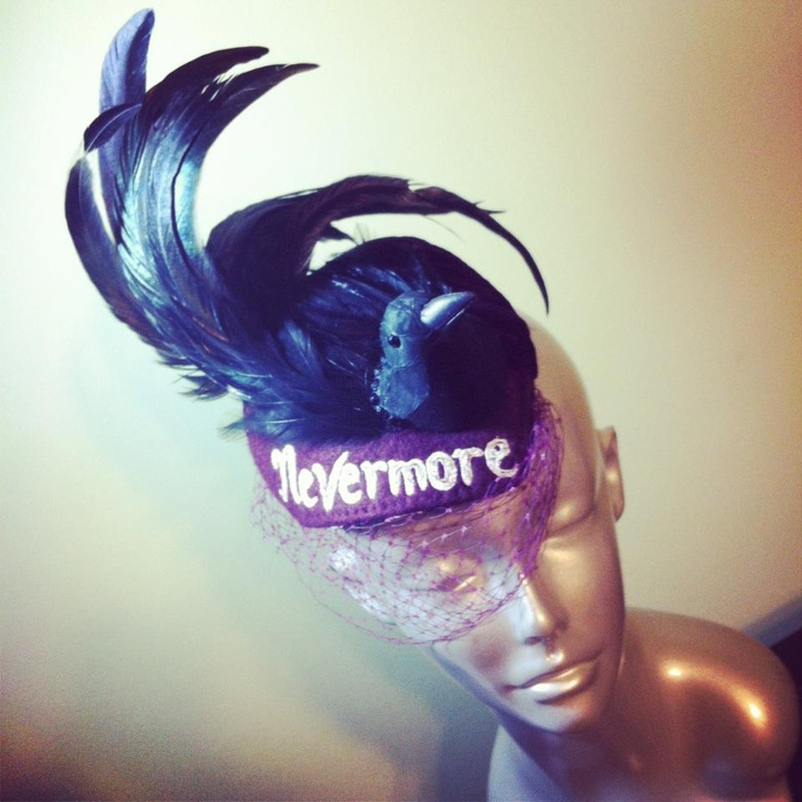 "Edgar Allen Poe's ""The Raven"" inspired fascinator."