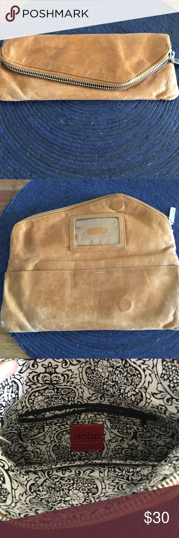 Brown leather Hobo wallet Used but beautiful brown HOBO wallet! HOBO Bags Wallets
