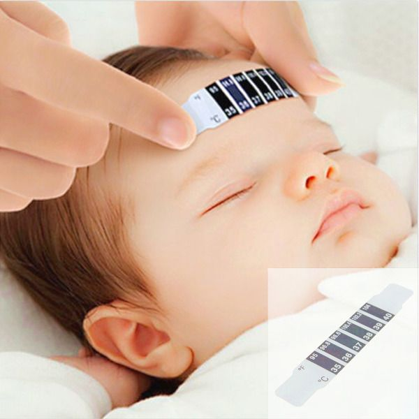 Baby Forehead Strip Thermometer Fever Temperature Test #Unbranded
