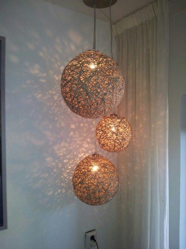Lampenkappen van touw