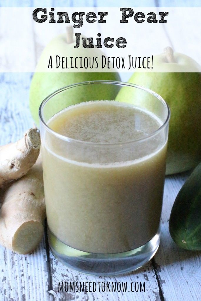 Ginger Pear Detox Juice | Best Hangover Cure