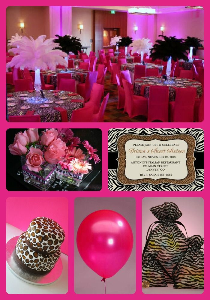 Leopard party ideas theme party ideas pinterest for Animal print decoration party