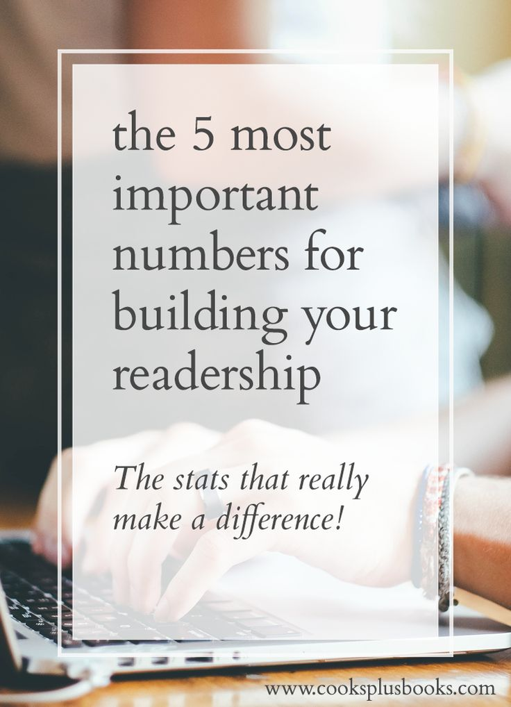 The 5 Most Important Numbers for Building Your Online Platform | cooks & books