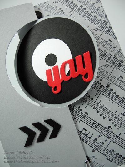 #dostamping, Stampin' Up! thinlet card die, Dawn Olchefske, Music Notes Wheel