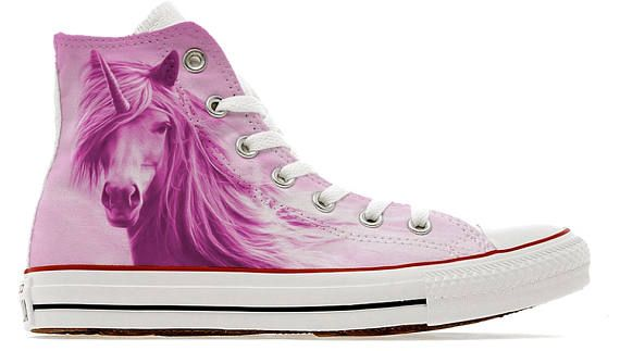 43ae372c311a Pink girly unicorn magical enchanted illustrated converse