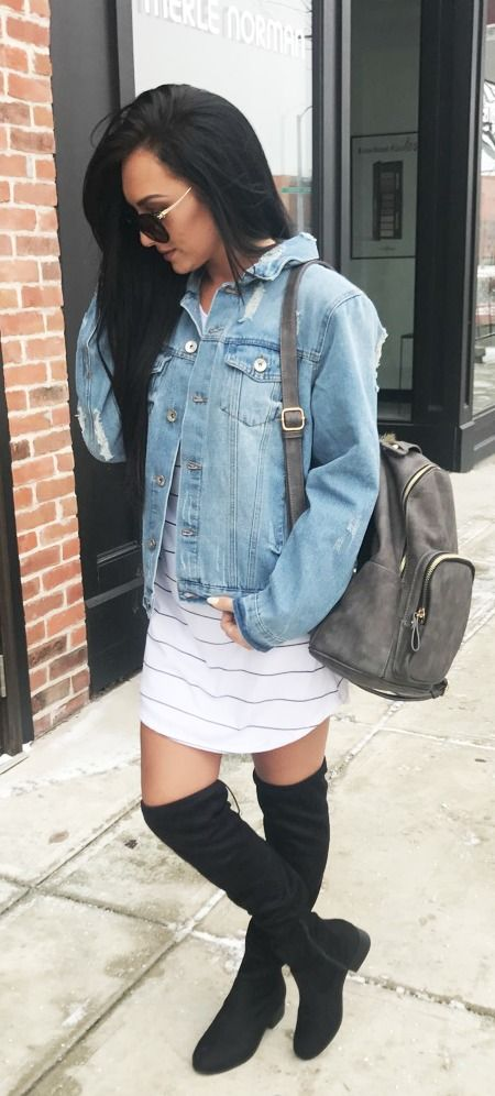 Oversized, distressed, denim jacket? Yes, please! The Boyfriend Jacket is one of the hotest new trends there are.