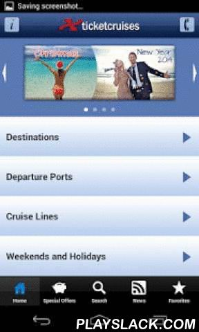 Ticketcruises - Cruises  Android App - playslack.com ,  Ticketcrociere has released the first app that lets you identify more than 5,000 offers updated in real time in their availability, price and itinerary. Of course there is the possibility at any time to request information or make reservations either through a dedicated telephone line or through the development of a specific form. There are deals: - Costa Cruises - MSC Cruises - Norwegian Cruise Line (NCL) - Royal Caribbean - Celebrity…