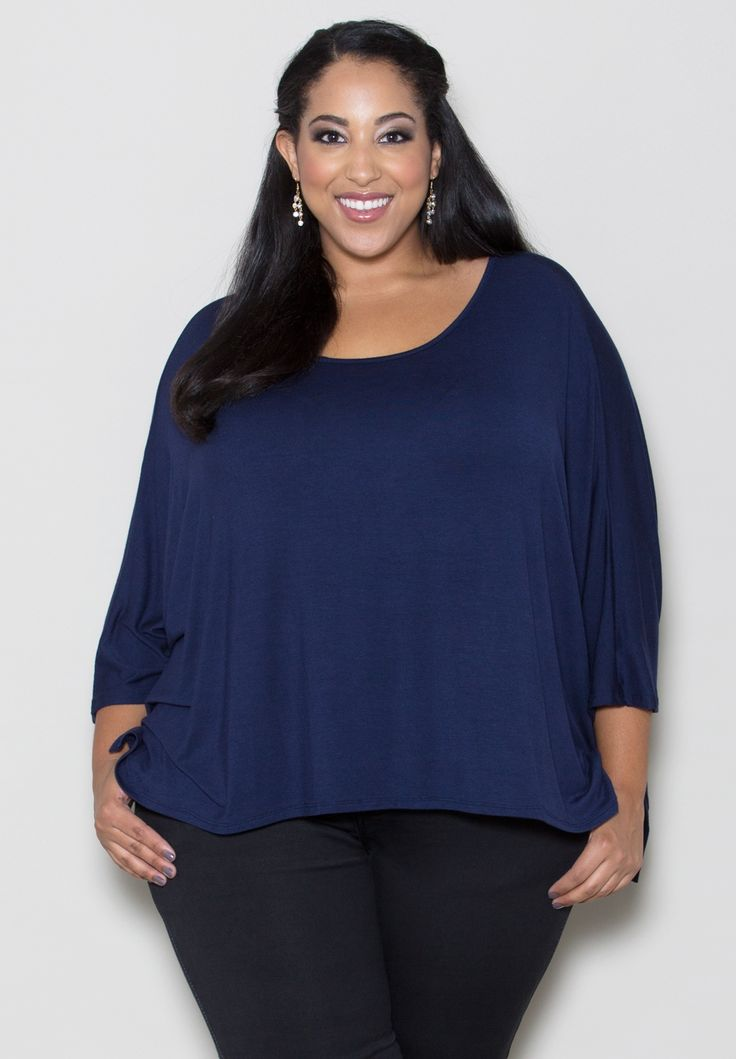 Plus Size Tops | Christina Dolman Top (Classic) | Swakdesigns.com