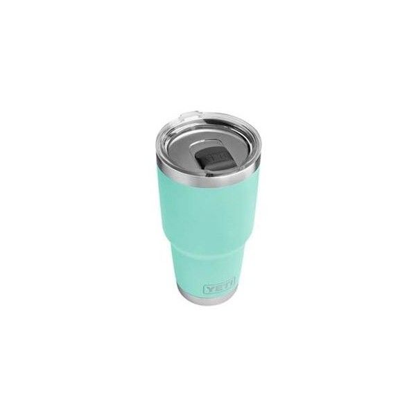 Yeti Rambler Tumbler 30 oz with MagSlider Lid in Seafoam ❤ liked on Polyvore featuring home, kitchen & dining, drinkware and outdoor drinkware