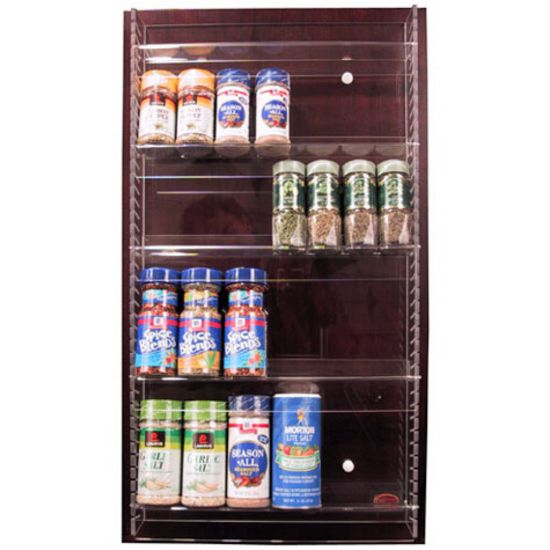 Acrylic Adjustable Kitchen Spice Rack - Mount On Any Door - By Transparent Inserts | KitchenSource.com