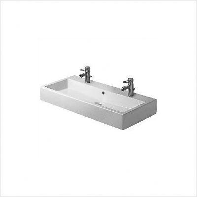 Trough Vessel Sink With Single Drain