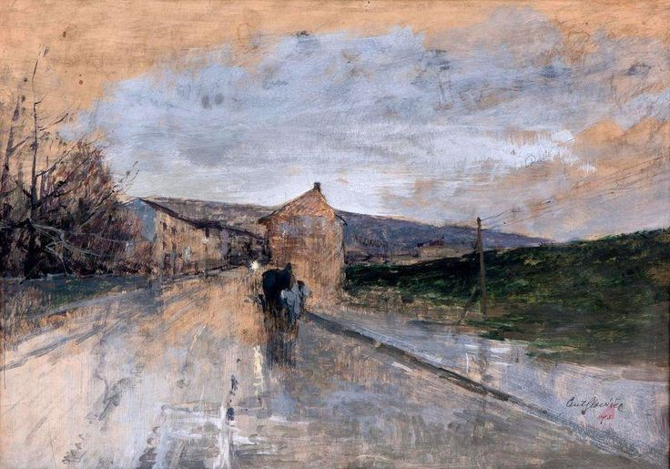 Antonín Slavíček - Cesta v dešti