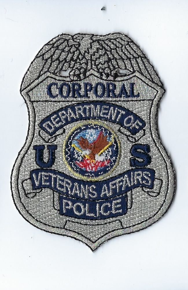 Dept. of Veterans Affairs VA Police CORPORAL silver badge-style patch - NEW! | Collectibles, Historical Memorabilia, Police | eBay!