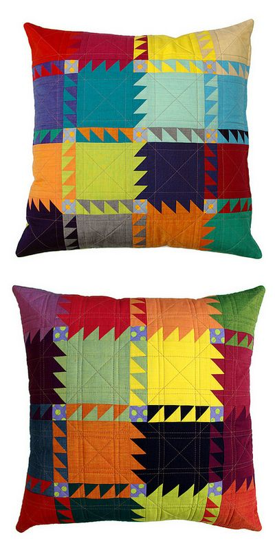 Red Pepper Quilts - awesome pillow - check out the pattern in her Esty store.