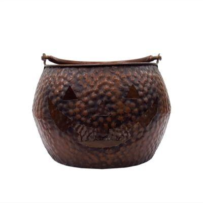 Holiday Living 10-in Brown Metal Pumpkin Basket