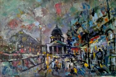 "Saatchi Art Artist Lubomir Tkacik; Painting, ""Evening in Paris"" #art"