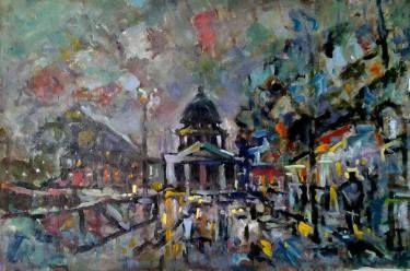 "Saatchi Art Artist Lubomir Tkacik; Painting, ""Evening in Paris"" #art"