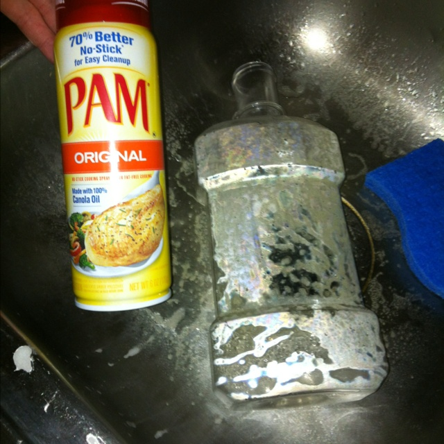 Pam removes sticker residue from plastic bottles very well  I have been  trying all morning to get it off this bottle  Grabbed to Pam sprayed it  down waited. 25  unique Remove stickers ideas on Pinterest   Remove sticky