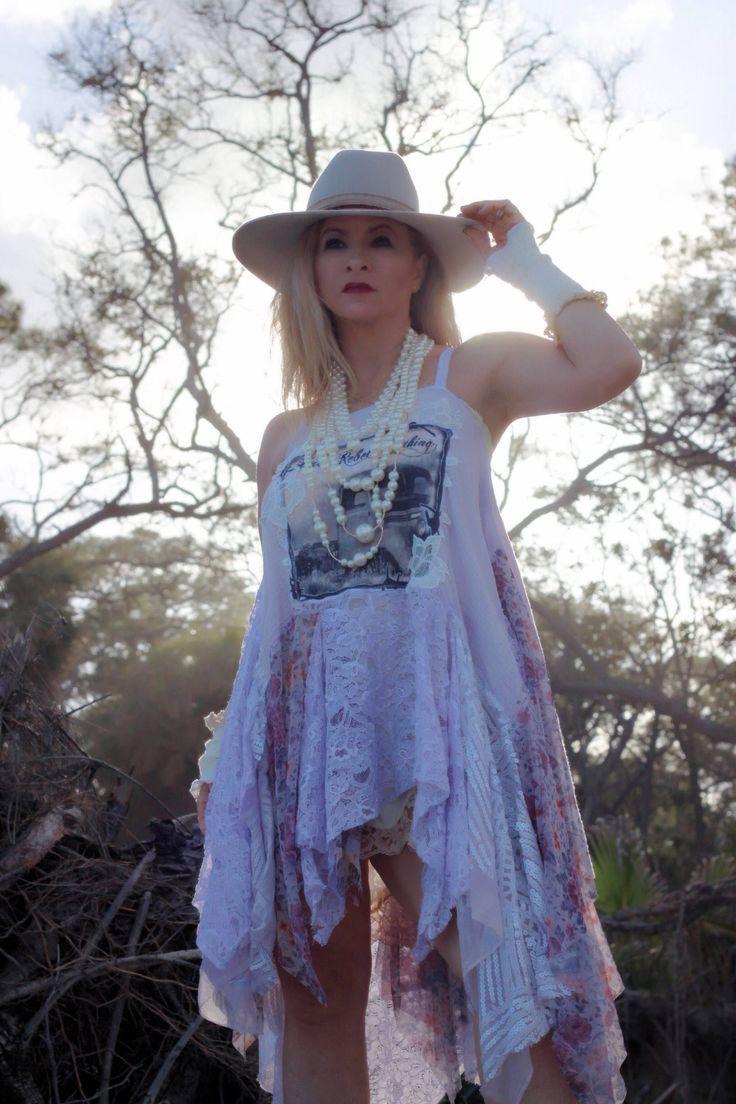#etsy shop: Boho tunic dress, lavender lace dress, Bohemian moon child dress, Romantic clothing gypsy women, Spell gypsy dress, True rebel clothing M L http://etsy.me/2CXuzh6 #clothing #women #dress #m #purple #bohotunicdress #stagecoach #festival #Coachella #dresses