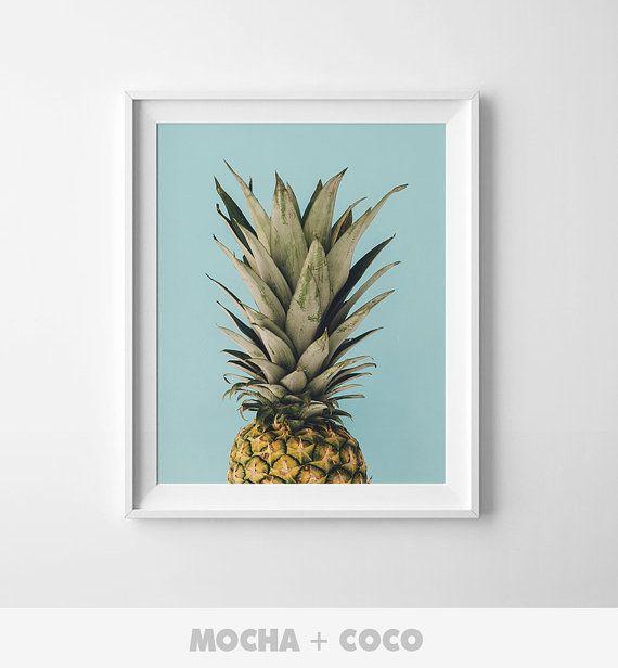 Pineapple Printable Poster Kids Room Poster Cute by MochaAndCoco