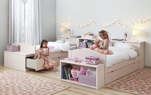 Imágenes de habitaciones para niñas en tonos rosas - Mamidecora.com