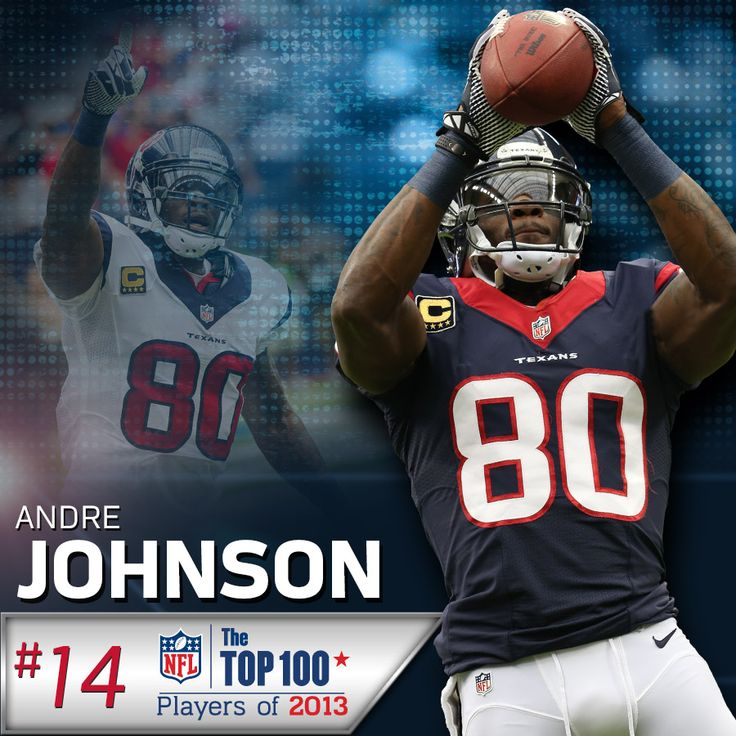 WR Andre Johnson was ranked No. 14 by his peers in the NFL Network's Top  100 Players of