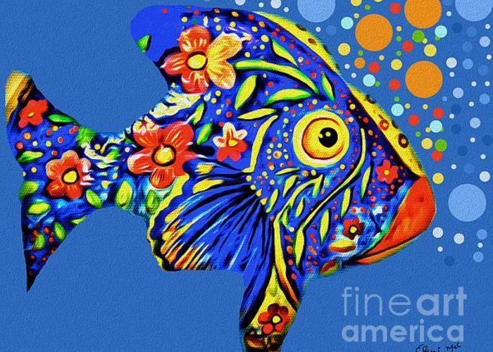 Tropical Fish Greeting Card by Eleni Mac Synodinos