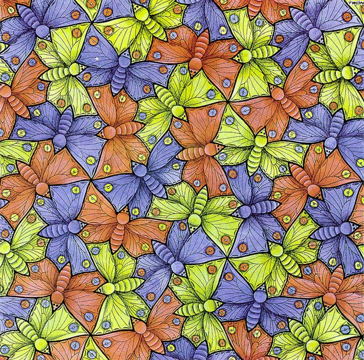 Escher M Optical Illusion Art | ... 70 Butterfly - A optical illusion m c escher art wallpaper picture