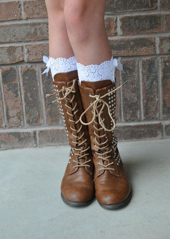 PAYCHECK SHOPPING!!! Great for the Fall!    Lace Boot Cuffs - Faux Lace Boot Socks - Faux Lace Leg Warmers - Lace Boot Topper - Faux Knee High Sock - Womens - Wedding Lace Cuff via Etsy