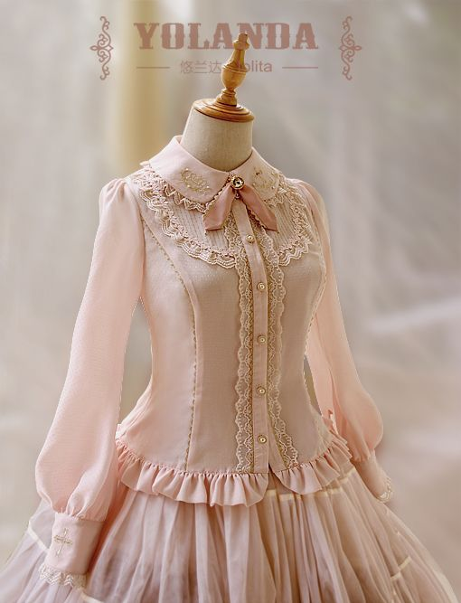 Yolanda -Bunny's Herbology- Lolita Blouse with Beautiful Embroideries on Collar and Sleeves