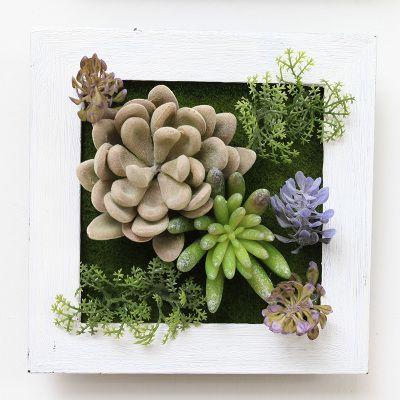Настенные 3D искусственные растения рамка заменители декоративные украшения дома настоящее сенсорный растений 3D стикер стены купить на AliExpress